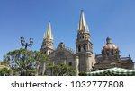 guadalajara cathedral in...   Shutterstock . vector #1032777808