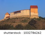 view of the feldioara fortress. ... | Shutterstock . vector #1032786262