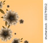 flowers background vector | Shutterstock .eps vector #1032793012