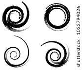 abstract spiral vector elements ... | Shutterstock .eps vector #1032794026