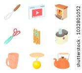 residential block icons set.... | Shutterstock .eps vector #1032801052