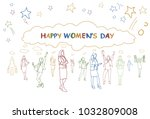 happy womens day greeting... | Shutterstock .eps vector #1032809008