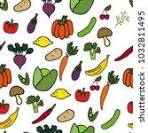 vector seamless pattern.... | Shutterstock .eps vector #1032811495