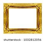 antique gold frame on white... | Shutterstock . vector #1032812056