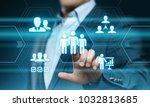 human resources hr management... | Shutterstock . vector #1032813685