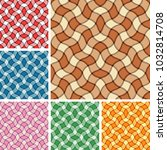 collection of seamless plaid... | Shutterstock .eps vector #1032814708