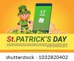 st. patricks day background... | Shutterstock .eps vector #1032820402