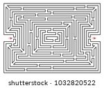 rectangle labyrinth vector.... | Shutterstock .eps vector #1032820522