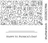 st. patrick's day banner with... | Shutterstock .eps vector #1032821986