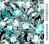 watercolor seamless pattern... | Shutterstock . vector #1032822112