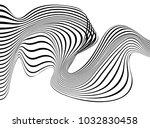 abstract op art wave   Shutterstock .eps vector #1032830458