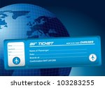 blue air ticket over blue... | Shutterstock .eps vector #103283255