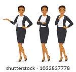 business woman set | Shutterstock .eps vector #1032837778