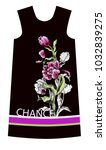 design dress with tulips... | Shutterstock .eps vector #1032839275