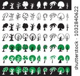 illustration of different trees ... | Shutterstock .eps vector #1032840622
