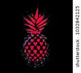 pineapple vector illustration.... | Shutterstock .eps vector #1032842125