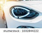close up of a red sport luxury...   Shutterstock . vector #1032844222