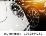 white and black cars in a...   Shutterstock . vector #1032844252