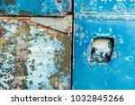 grunge blue metal texture for...   Shutterstock . vector #1032845266