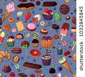 vector sweet stuff. color... | Shutterstock .eps vector #1032845845