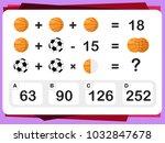 practice questions worksheet... | Shutterstock .eps vector #1032847678