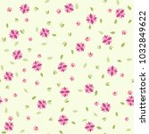 cute seamless floral pattern.... | Shutterstock .eps vector #1032849622
