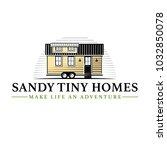 tiny living homes houses logo... | Shutterstock .eps vector #1032850078