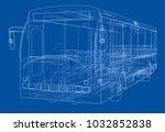 concept city bus. vector... | Shutterstock .eps vector #1032852838