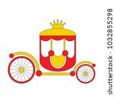 gold chariot cartoon  the... | Shutterstock .eps vector #1032855298