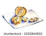 juicy orange tangerine | Shutterstock . vector #1032864832