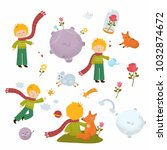 big set of graphic elements  ... | Shutterstock .eps vector #1032874672