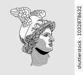 classical sculpture. vector... | Shutterstock .eps vector #1032878632
