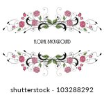 roses floral frame with place... | Shutterstock .eps vector #103288292