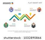 four employees workflow slide... | Shutterstock .eps vector #1032890866