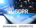 gdpr. data protection...   Shutterstock . vector #1032892702
