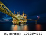 offshore oil and gas... | Shutterstock . vector #1032894382