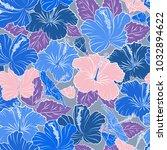 bright hawaiian seamless... | Shutterstock .eps vector #1032894622