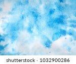 hand drawn watercolor texture. | Shutterstock . vector #1032900286