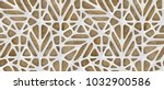 3d white lattice tiles on... | Shutterstock . vector #1032900586