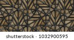 3d black lattice tiles on... | Shutterstock . vector #1032900595