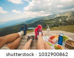 legs of traveler family | Shutterstock . vector #1032900862