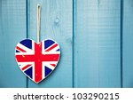 Rustic Wooden Union Jack Heart...