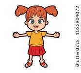 beautiful girl cartoon   Shutterstock .eps vector #1032904072