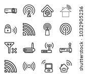 wifi icons. set of 16 editable... | Shutterstock .eps vector #1032905236
