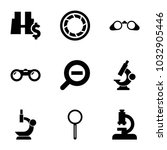 zoom icons. set of 9 editable... | Shutterstock .eps vector #1032905446
