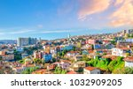colorful buildings of the... | Shutterstock . vector #1032909205