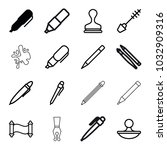 ink icons. set of 16 editable...   Shutterstock .eps vector #1032909316