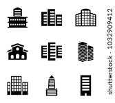 headquarters icons. set of 9... | Shutterstock .eps vector #1032909412