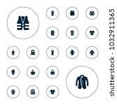 editable vector jacket icons ...   Shutterstock .eps vector #1032911365