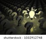 idea bulb glowing in the dark... | Shutterstock . vector #1032912748